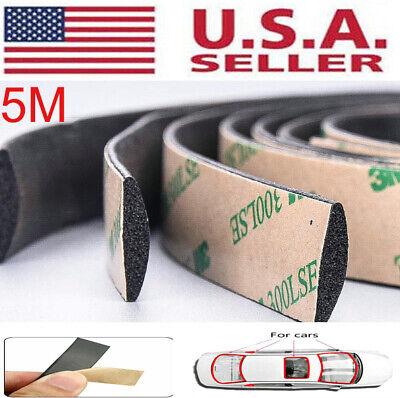 5m Seal Strip Trim For Car Front Rear Windshield Weatherstrip Rubber Waterproof