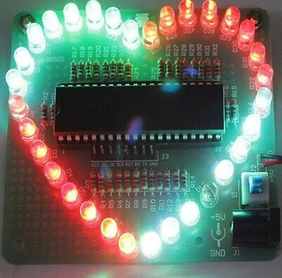 1pcs Diy Electronic Kit Heart Shape Colorful Led Module Love Water Light K9