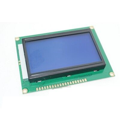 2pcs 5v 12864 Lcd Display Module 128x64 Dots Graphic Matrix Lcd Blue Backlight