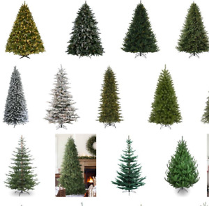 Nice CHEAP plastic artificial Christmas trees + decorations