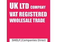 UK Vat Wholesale Registered Company forsale no debts