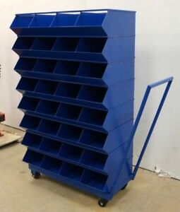 NEW! LARGE 32 DRAWER ROLLING PARTS & BOLT BIN CABINET BLUEBOLT