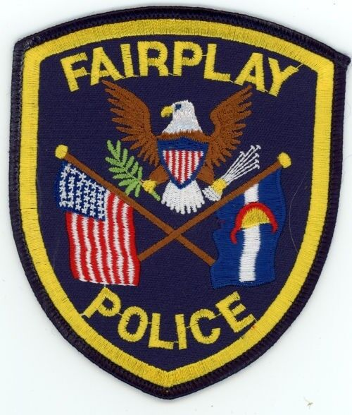 FAIRPLAY COLORADO CO POLICE COLORFUL PATCH STYLE #3 SHERIFF
