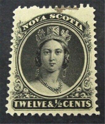 nystamps Canada Nova Scotia Stamp # 13 Mint OG H $43   L23y2930
