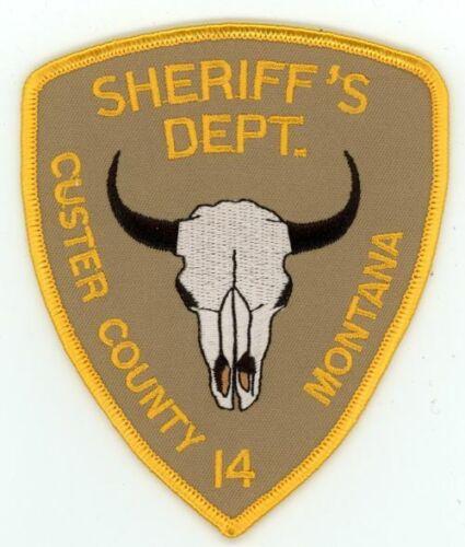 CUSTER COUNTY SHERIFF MONTANA MT NICE PATCH POLICE