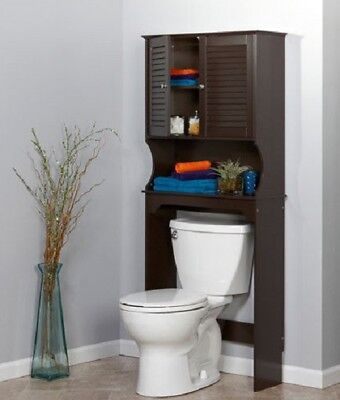 Bathroom Cabinet Over Toilet Space Saver Storage Oraganizer Furniture Shelf New