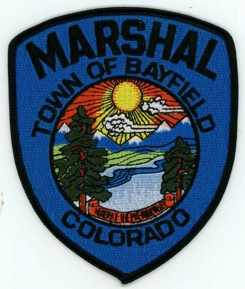BAYFIELD MARSHAL COLORADO CO COLORFUL PATCH POLICE SHERIFF