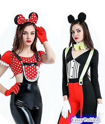 Sexy Mickey Mouse & Minnie Mouse Womens Couple's Costume - Mickey Minnie Couple Costumes
