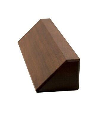 Solid Wood Desk Holder W Beveled Edges - Walnut - 10 X 2 - Newopen Box - Jpp