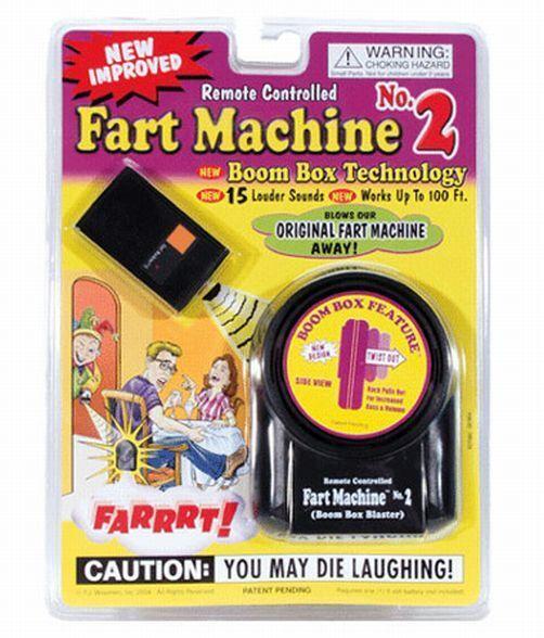 Fart Machine # 2 - NEW VERSION with remote + 1 Million Bill Bonus