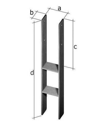 H-Anker 91 mm Pfostenträger Pfostenanker Betonanker Anker Carport Pfostenschuh