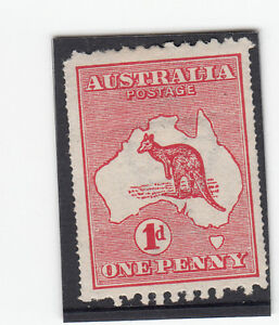 Stamp-Australia-1d-red-Kangaroo-die-1-variety-double-perf-both-sides-ACSC2b-MH