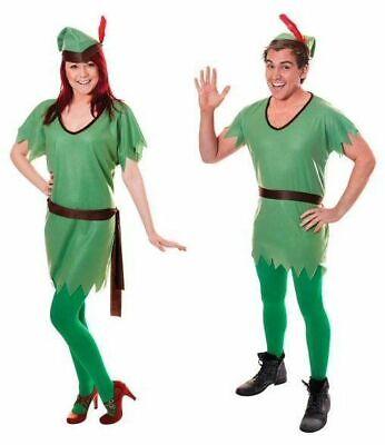 Bristol Novelty Robin Hood / Elf Unisex Male Female Fancy Dress Costume  (Male Tinkerbell Costume)