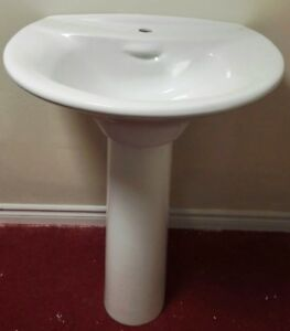 One bidet and 17basin with pedestal, Brand new in boxes $40 each