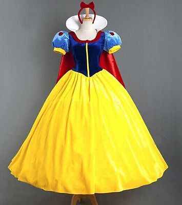 Christmas Party Costume (Christmas Party Dress Clothes Adult Snow White Skirt Stage Cosplay Costume)