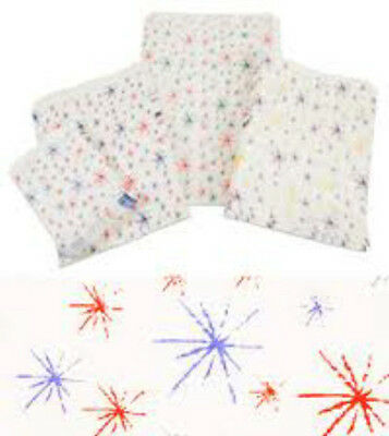 1000x Paper Bags Starburst Pattern Size 8x11
