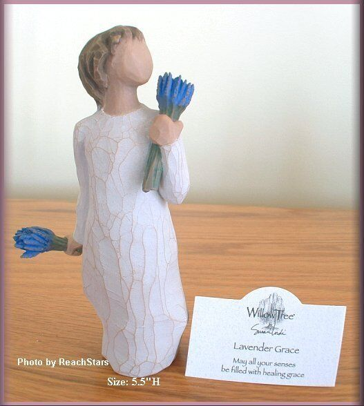 LAVENDER GRACE FIGURE FROM WILLOW TREE® ANGELS FREE U.S. SHIPPING