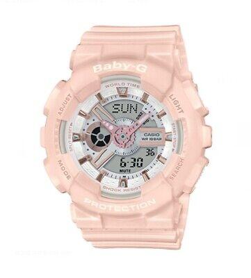 Casio Baby-G BA110RG-4ACR Tandem Series Women's Pink Rose Analog Digital Watch
