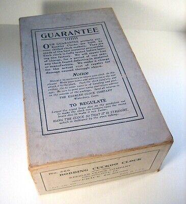 BOX for Bobbling Cuckoo Clock by Keebler Clock Co.