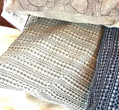 Pottery Barn Honeycomb Pillow Cover Driftwood 18 Throw Sofa Accent Neutral New ()