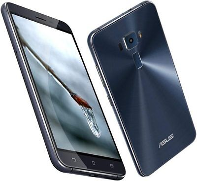 """Asus Zenfone 3 ZE520KL 32GB Black 16MP 5.2"""" 3GB RAM Android Phone By FedEx"""