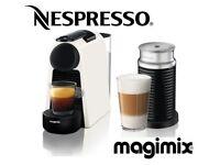 Nespresso Magimix Essenza Mini & AEROCCINO3 Coffee Machine - White