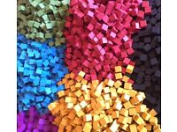 8mm Wooden Cubes - Boardgame Spares, Crafting, Toys etc.
