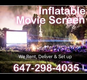 Inflatable BIG Movie Screens for Rent - BOOK TODAY!