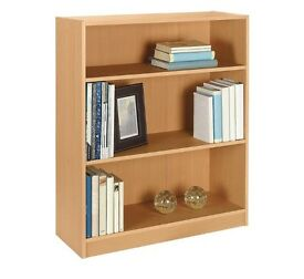 Oak effect bookcase