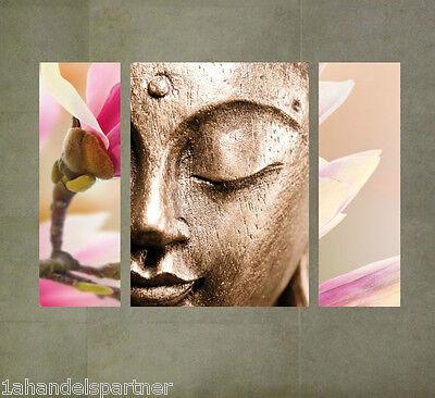 Bad Badezimmer Bild (Wellness Wandbild Buddha Blume Badezimmer BAD Wohn DEKO SET Wandtattoo Tafeln)