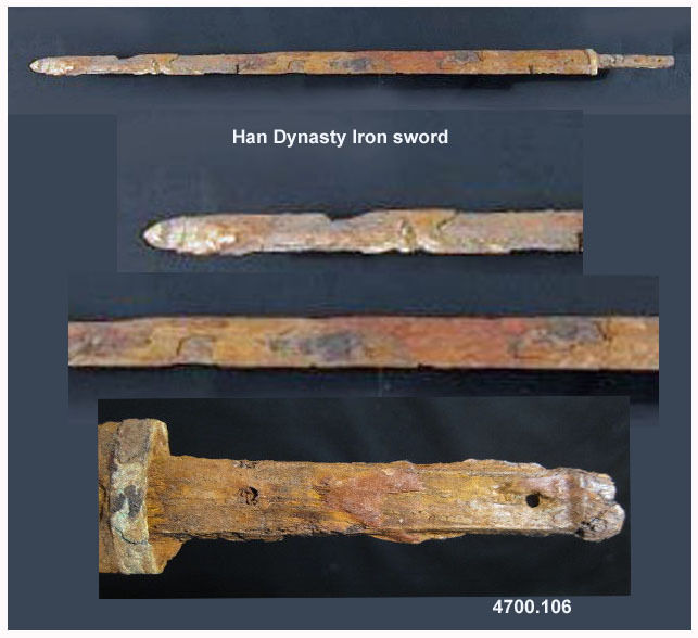 Han Dynasty ancient  Chinese excavated iron sword Jian - rare museum piece