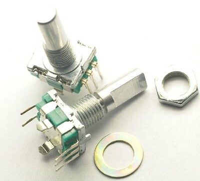 2pcs Rotary Encoder With Switch Ec11 Audio Digital Potentiometer Handle 20mm