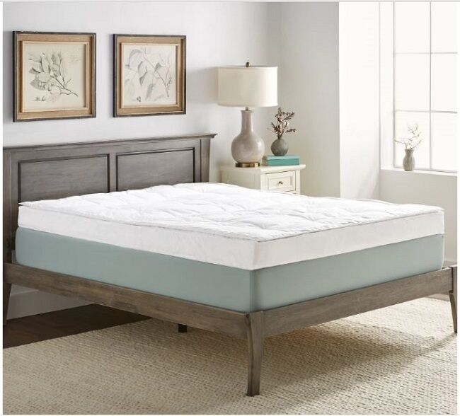 Luxurious Down-top Baffle Box 5-inch Gusset Feather Bed. Res