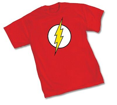 DC FLASH CLASSIC COMIC SYMBOL Logo - RED Adult Officially T-Shirt - S-3XL Flash Logo Red T-shirt