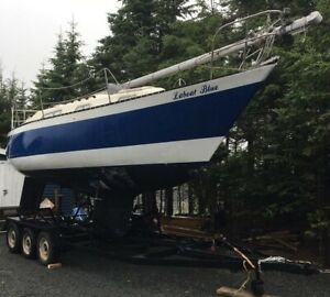 26 foot Hughes Sailboat with trailer