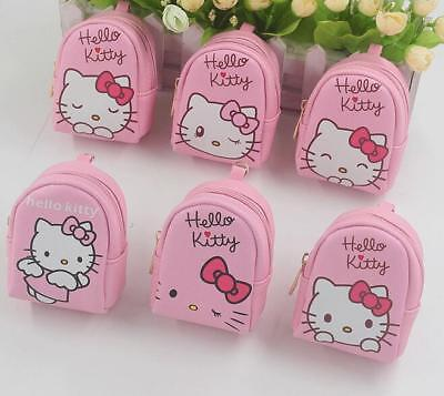 1PC Pink Hello Kitty Mini Backpack Coin Purse Portable KeyRing Key Chains Gift