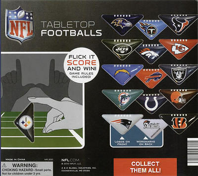 NEW NFL LICENSED TABLETOP MINI FOOTBALL 2 PIECE SET + GAME RULES - YOU PICK - Mini Football Game