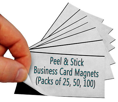 Peel And Stick Business Card Magnet Wholesale Pack Of 100