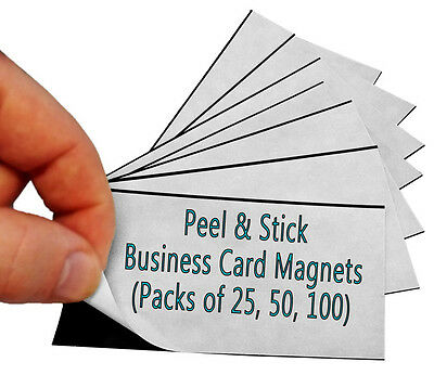 250 Magnetic Business Card Peel And Stick Magnets For Marketing Give Aways