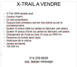 2006 Nissan X-trail SUV, Crossover