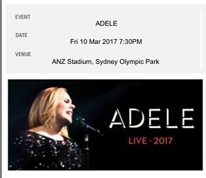 Adele tickets Sydney 10th March Braddon North Canberra Preview