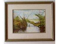 Watercolour of Burley, New Forest, signed by local artist.