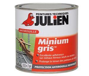 peinture anti rouille minium gris julien protection anti corrosion tous metaux ebay. Black Bedroom Furniture Sets. Home Design Ideas