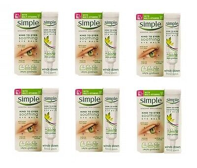 Simple Kind To Eyes Soothing Eye Balm, for Tired Eyes, 15 ml (0.5 Oz) - 6 Pack
