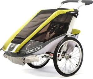 Chariot 1 Cougar Stroller with ALL Options / Bike / Job / Stroll