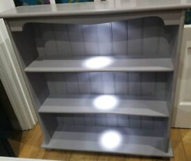 Heavy Solid wood display unit with led lights