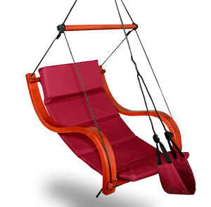 New Burgundy Deluxe Hammock Air Chair Padded Hanging ...