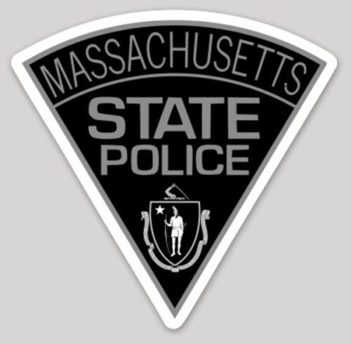 2 Inch Non-Reflective Massachusetts Subdued State Police Logo Sticker Decal