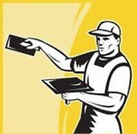 CEILING REPAIRS TAPING DRYWALL PATCHING-English Tradesman 30 yrs