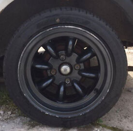 4 Minilite Wheels with new tyres